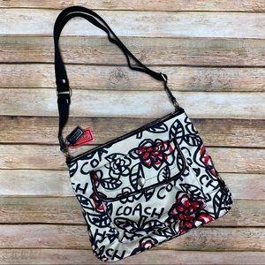 Coach Daisy Graffiti Floral Poppy Messenger Bag